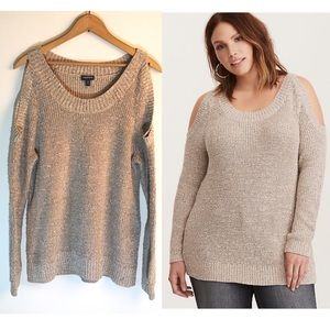 Torrid Knit Cold Shoulder Tunic Sweater